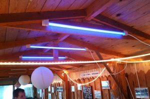 LED-Sonderlösung: Im Bootshaus in Grünau kann gefeiert werden.